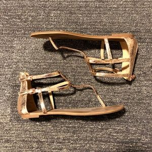 MOVING SALE! Express Rose Gold gladiator Sandals
